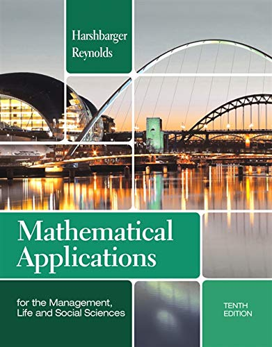 Compare Textbook Prices for Mathematical Applications for the Management, Life, and Social Sciences Textbooks Available with Cengage Youbook 10 Edition ISBN 9781133106234 by Harshbarger, Ronald J.,Reynolds, James J.