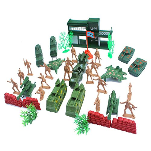 Souvenirs d'enfance Cadeaux Jouets Soldats Modèles Jouets Guns Modèles Camions Tracteurs Modèle militaire-38 PCS / 1: 52