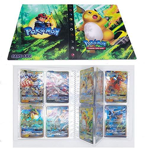 SunAurora Tarjetero Pokémon, Pokemon Album Cartas,30 páginas - Puede Contener hasta 240 Tarjetas (Raichu)