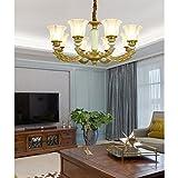 LOFAMI Lampadario a bracci di vetro di lusso di lusso Lampadario a bracci lampada da soffitto in ceramica da cucina (Color : 6 light)