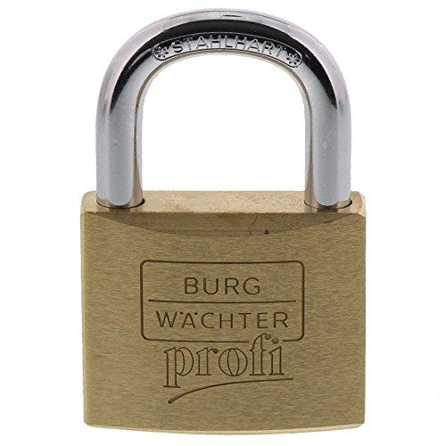 Burg-Wächter Vorhängeschloss, Profi 116 50 SB, inkl. 2 Schlüssel, Bügelstärke: 8 mm