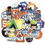 WYDML Programación Lenguaje Stick Software Programa Pegatinas Para Geek Diy Laptop Macbook Teléfono Ordenador 50 PC