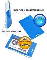 LAM-IT-ALL ホットラミネートポーチ 荷物タグ 500個パック 10ミル 2-1/2 x 4-1/4 ブルー/クリア