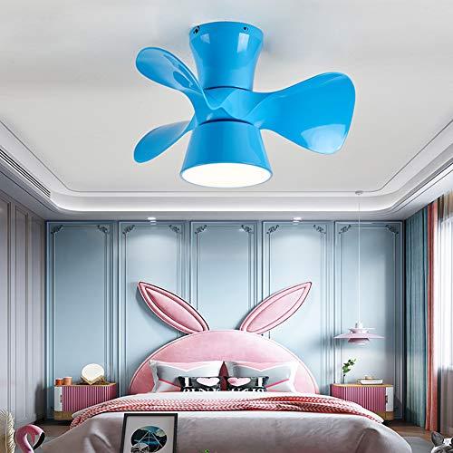 CGXYZ Ventilador de Techo con luz y Mando a Distancia, 3 Palas, 55 cm de diámetro, Potencia 36 W y 6 velocidades, Ventilador de Techo Infantil