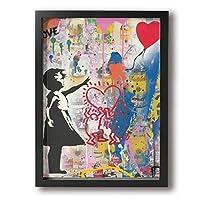 noanybetter Banksy バンクシー アートパネル 絵画 ポスター 印刷 ダンフレーム キャンバス 壁飾り おしゃれ インテリア 北欧 モダン