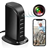 Hidden Spy USB Charger Camera, Spy Camera 5-Port USB Hub Covert Nanny Cam CAMXSW 1080P HD WiFi Camera for Home Surveillance with Motion Detection iOS & Android APP Remote Control
