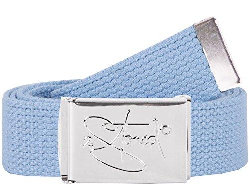 2Stoned Hosengürtel Schmal Sky, Chromschnalle Classic, 3 cm breit, Textil-Gürtel für Damen und Herren