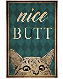 AZSTEEL Nice Butt Cat Poster | Poster No Frame Board for