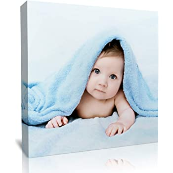 """wallart777 Custom Canvas Prints with Your Photos - Kids Personalized Poster Wall Art - Personalized Canvas Pictures Canvas Wall Art for Home Decoration (12"""" x 12"""")"""