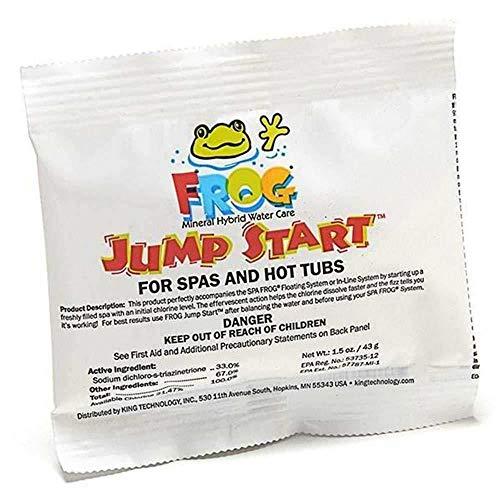 Pool Frog Jump Start for Spas & Hot Tubs 1.5 OZ Per - Frog Ease- SmartChlor - Frog Serene -Quick Dissolving Granular Formula 01-14-6012-500 Gallons Per Packet (10)