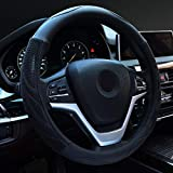 Alusbell Microfiber Leather Steering Wheel Cover Breathable Auto Car Steering Wheel Cover for Men...