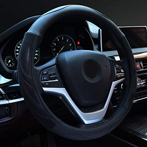 Our #5 Pick is the Alusbell Microfiber Leather Steering Wheel Cover