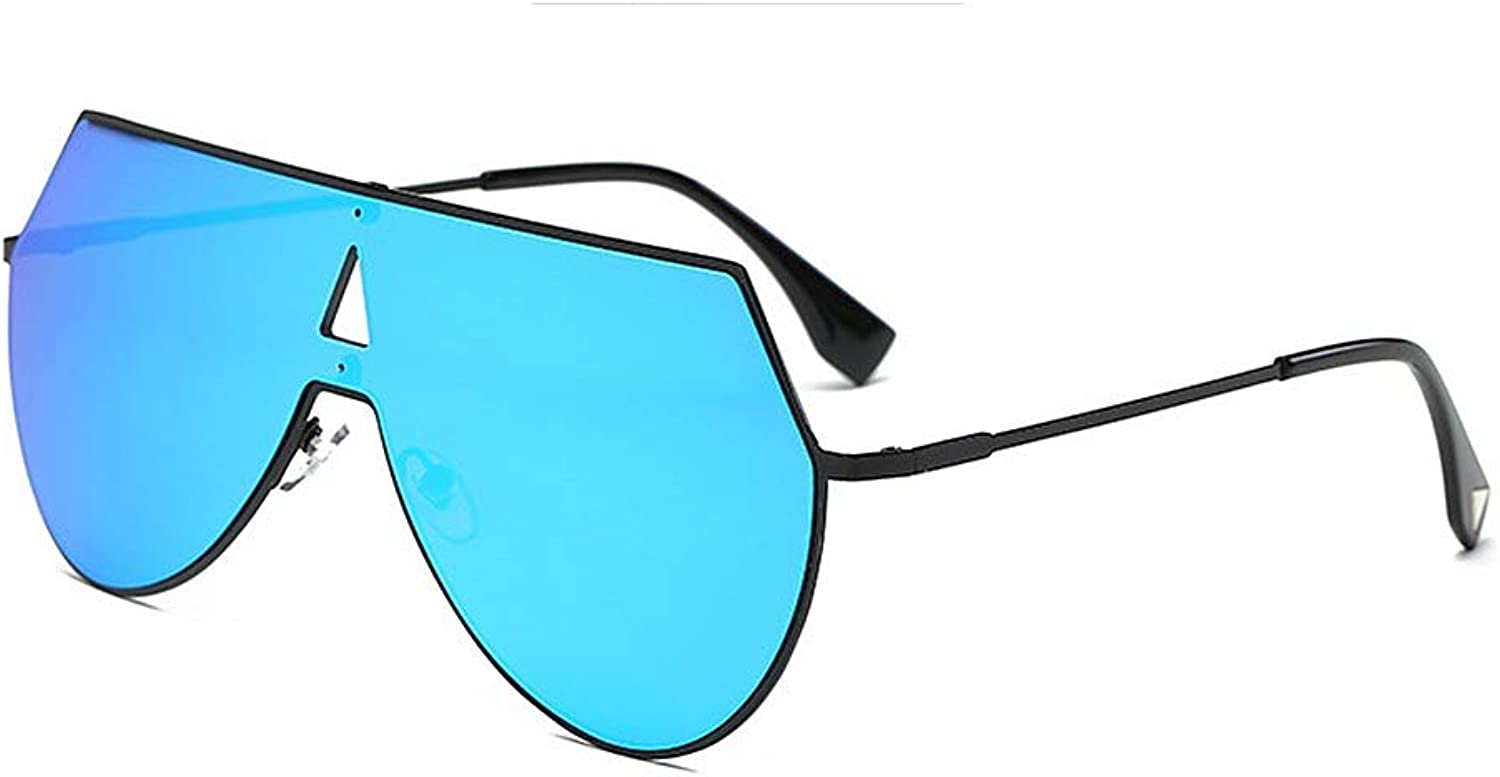 Women's Sunglasses Irregular Male and Female Sunglasses Reflective Sunglasses Available for Driving (color   blueee)