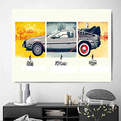 UHvEZ 1000 Piece Wooden Puzzle Back to The Future Time Puzzle Toy Adult Game Family Wall Decoration 50x75cm