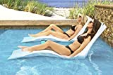 Floating Luxuries Kai Shelf Lounger for 0-9 in. of Water, Set of 2 in-Pool Chaise Lounge Chairs, White