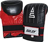 SULOV Coachinghandschuhe, Schwarz/Rot, XL