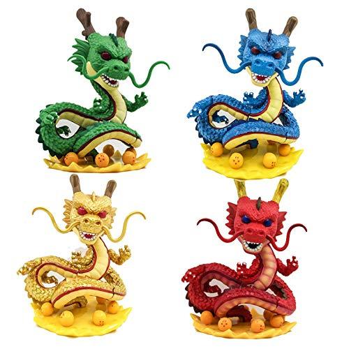 4 Unids / Set Tamaño Grande 15 Cm Dragon Ball Z Shenron 265 Figura De Acción Juguetes Modelo