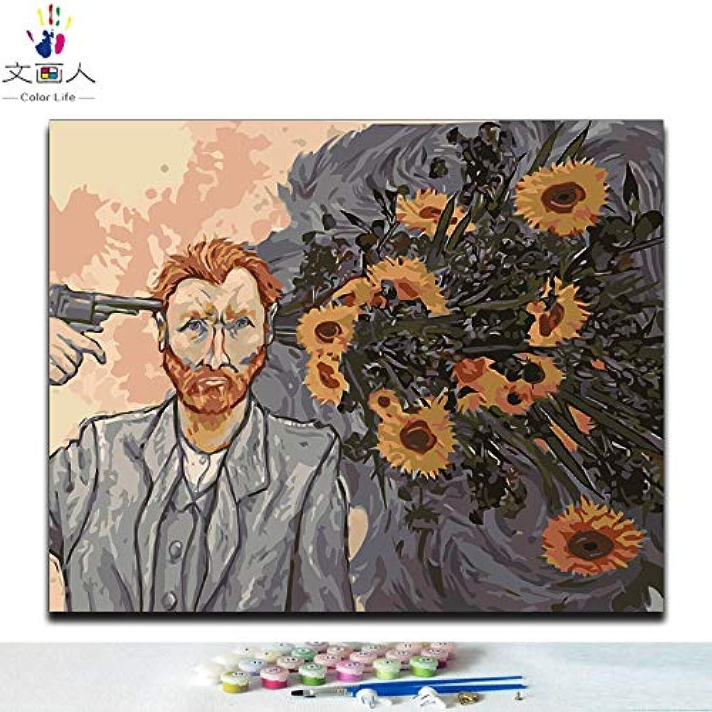 Vincent Zahlen nach Diy KYKDY Van Malen Rahmen ohne 80x60