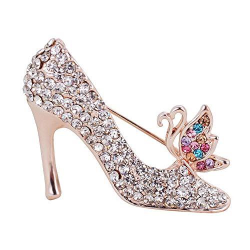 Noble Femme Broches U0026 Pins Multicolore Chaussures À Talons Hauts Forme Broche All-Match Femme Bijoux Service Durable
