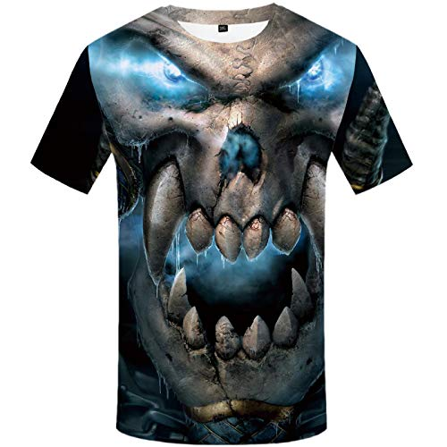 Camiseta de Manga Corta Skull Pile para Hombre Negra XL