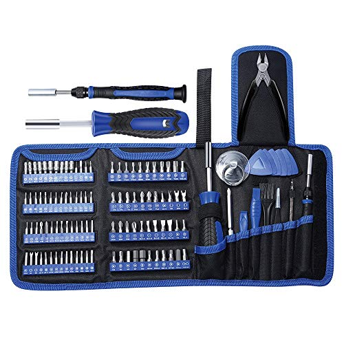 E·Durable 118 in 1 Precision Screwdriver Set Professional Electronic Repair kit with 100 Bits Magnetics Repair Tool Kits for Game Console, Tablet, PC, Macbook, Watches, Camera, ETC