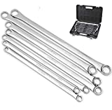 HORUSDY 7-Piece Extra Long Double Box End Wrench Set, CR-V, Less Effort Aviation Wrench Me...