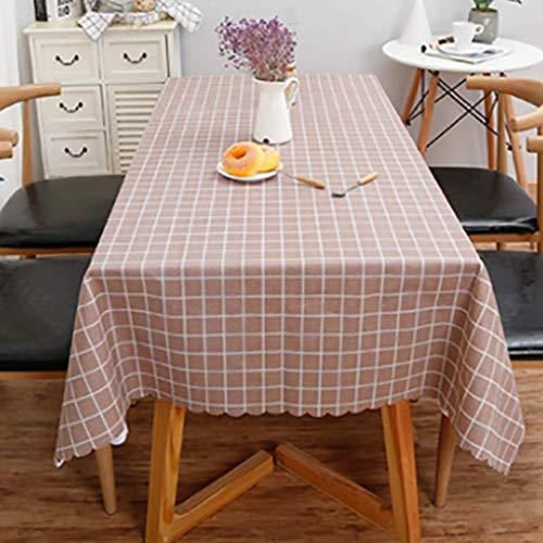 GCXZB PVC Mantel Color Color Sólido Cocina Mantel Rectángulo Rectángulo Mantel Rectifuling antiincrustante Paño a Prueba de Polvo Mantel Decorativo (Color: Gris, Tamaño: 140 * 180 cm)