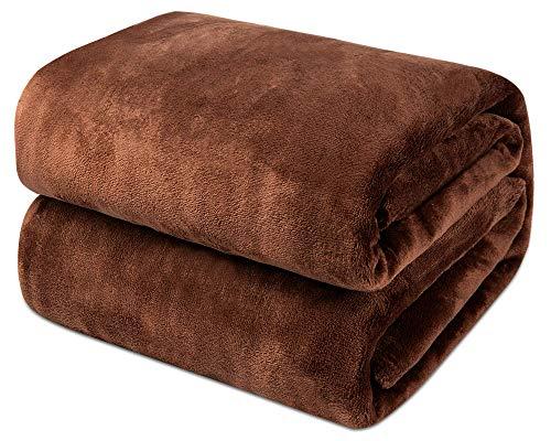 Möge Kuscheldecke Dunkelbraun 130x150cm Flauschige Decke Sofa, weiche& warme Fleecedecke als Sofadecke/Couchdecke, Kuschel Wohndecken Kuscheldecken, Plüschdecke oder Wohnzimmerdecke