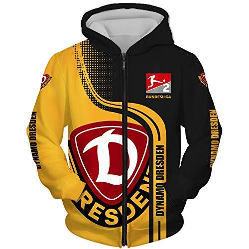Männer Hoodies Zum Sg-Dynamo-Dresden 3D Drucken Kapuzenpullover Pullover/Zip Jacke Unisex Sweatshirts Jersey Tops / B1 / XL