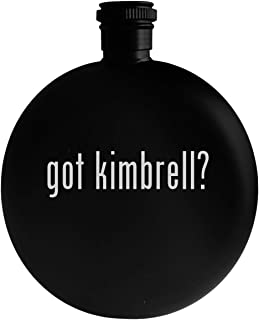 got kimbrell? - 5oz Round Alcohol Drinking Flask, Black