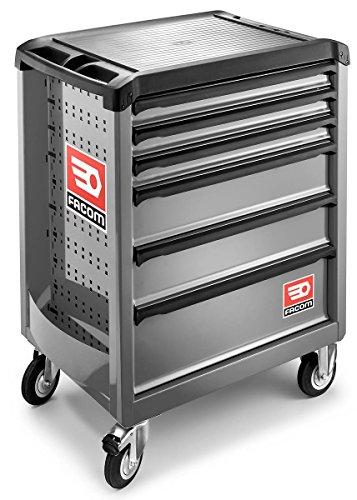 Facom PrimeTools ROLL.6GM3, Rollcontainer, Rollschrank, mobile Schubladen, grau