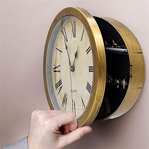 Suszian Caja Fuerte Oculta Reloj de Pared, Reloj de Pared Caja Oculta Caja de Dinero Caja de Dinero Caja de Almacenamiento