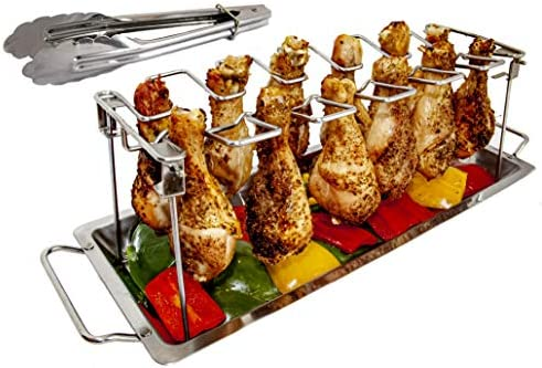 MamAnya s Useful Things Chicken Leg Wing Rack Stainless Steel for Grill Smoker or Oven with product image