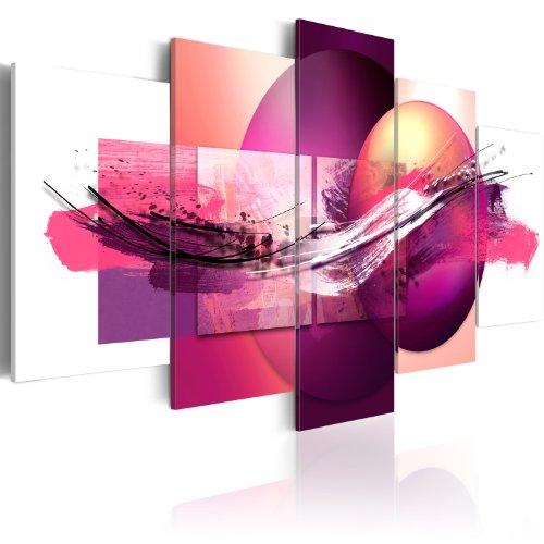murando - Bilder Abstrakt 100x50 cm Vlies Leinwandbild 5 TLG Kunstdruck modern Wandbilder XXL Wanddekoration Design Wand Bild - geometrisch bunt wie gemalt 020101-110