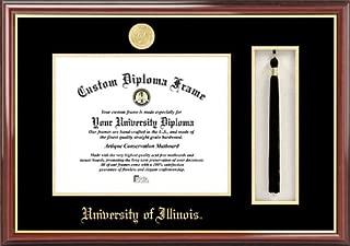 Campus Images NCAA Illinois Illini Tassel Box and Diploma Frame