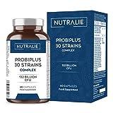 Probióticos 30 Cepas 132 Mil Millones de UFC Garantizados por Dosis | Mejora las Defensas y la Flora Intestinal | Probiplus 30 Cepas Complex 60 Cápsulas Nutralie