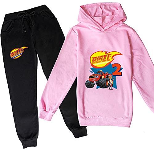 Proxiceen Flamme & Monster Machine - Sudadera con capucha para niño y niña A3. XXXL