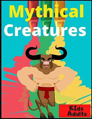 Mythical Creatures Coloring Book For Adults And Children Paint Read Solve Activity Book product image
