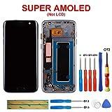 SWARK Super amoled Affichage Compatible avec Samsung Galaxy s7 Edge g935a g935v g935p g935 Noir avec Une ossature g935t numériseur à écran Tactile LCD