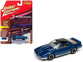 Johnny Lightning JLCG011A 1985 Pontiac Firebird Trans Am Bright Blue Poly Classic Gold Limited Edition to 1800pc Worldwide Hobby Exclusive 1/64 Diecast Model Car