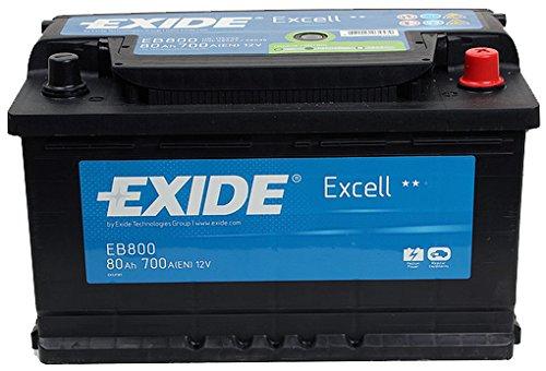 Exide Excell EB800115SE, batteria auto 80Ah