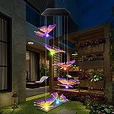Lixada 2021 LED Solar Solarlicht Windspiele licht,Überraschungsgeschenk für Freundinnen Mütter Tochter, Garten hängen Spinner Lampe Farbwechsel Lichterkette Außen Dekoration Lichter