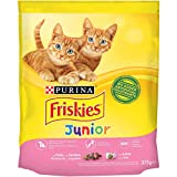 Friskies Junior Croquettes pour Le Chat, avec Poulet, Lait et légumes ajoutées, 375g–Lot de 12pièces