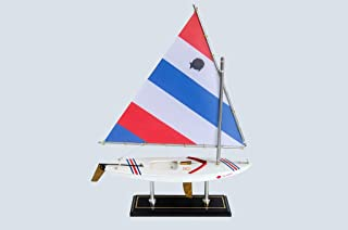 LK Scale Models Wooden Colada Sunfish Model Sailboat Decoration 16