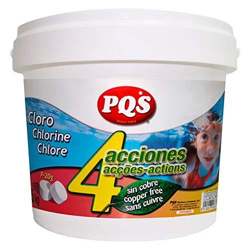 PQS Cloro 4 ACCIONES SIN Sulfato Cobre P-20 y 200 G