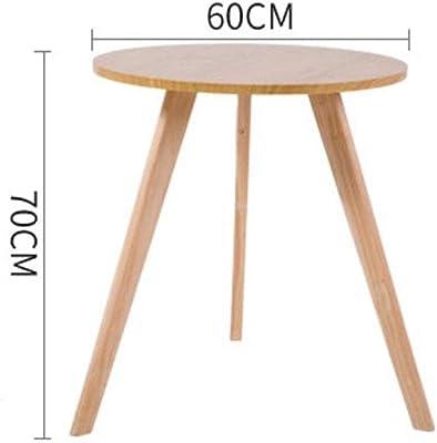 サイド テーブル,ソファーサイドテーブル, ヨーロッパのカジュアルなコーヒーテーブルのリビングルームのバルコニーの寝室レストランカフェのケーキ部屋純木現代のコーヒーテーブル (Size : D)