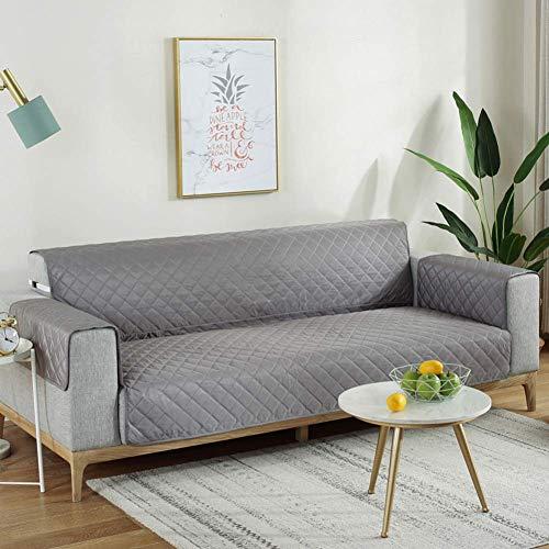 Jonist Funda Impermeable para sofá, Antiadherente, Antideslizante, para sofá Bariasis, Funda para sofá Universal siamés, para niños, Mascotas, Gris 53x190cm (21x75inch)