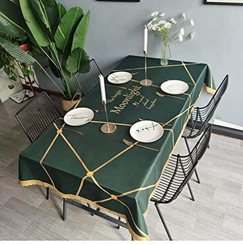 Nappe Verte Table à Manger Couverture cheminée comptoir Nappe imperméable décor à la Maison 140X220Cm