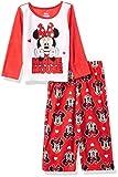 Disney Girls' Infant Mouse 2-Piece Pajama Set, Minnie Love, 12M