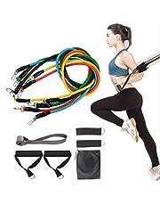 Nifogo Weerstandsbanden Fitness Tubes Spanbanden Fitness Stretch Bands, Weerstandsbanden Set, Oefening Weerstandsbanden Ideaal voor thuis, Gym, Yoga, Pilates, Training